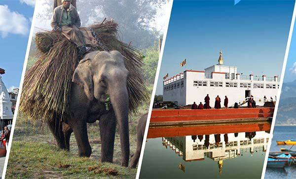 Kathmandu, Chitwan, Lumbini, Pokhara City Tour with Mountain Flight to Everest